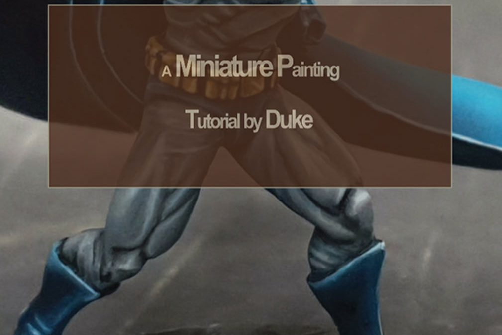 Miniature Painting book by Duke: How to paint Batman