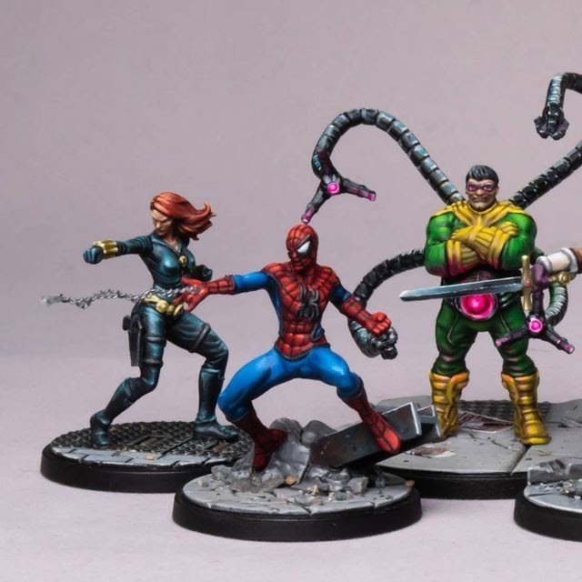spiderman miniature painting by sorastro's painting