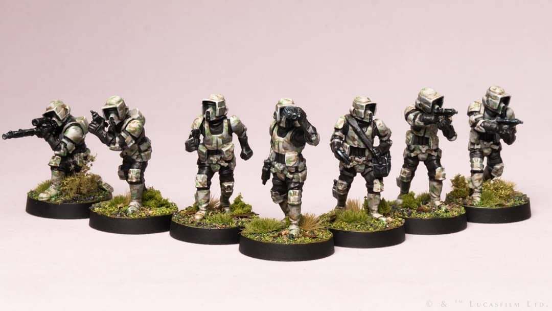 star wars stormtroopers miniature painting